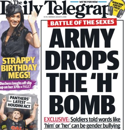 Daily Telegraph Fuels Culture Wars With Gender Neutral Military Fake News