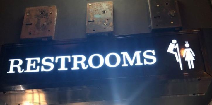 Bar Apologises For Sexist 'peeping Tom' Toilet Sign